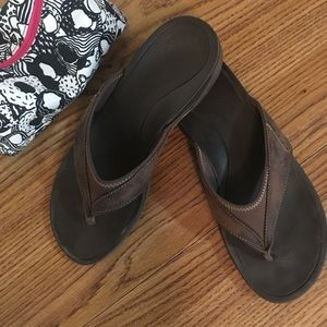 Abeo Balboa Leather Sandals Brown Size 8 Women